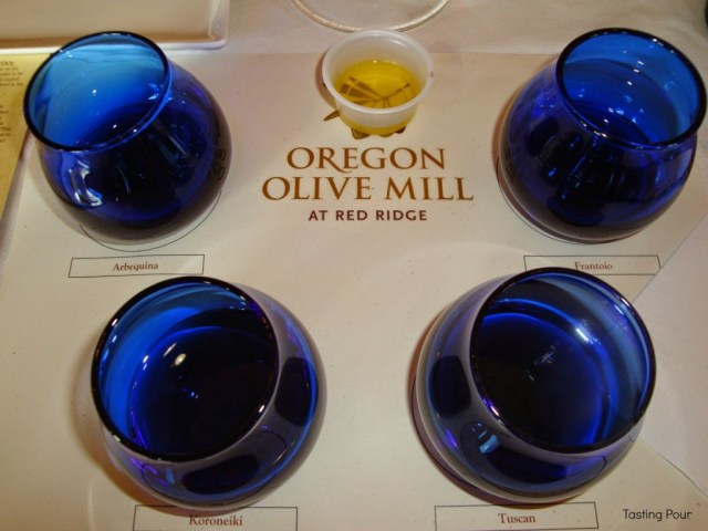 Guided olive oil tasting at Oregon Olive Mill at Red Ridge Farms