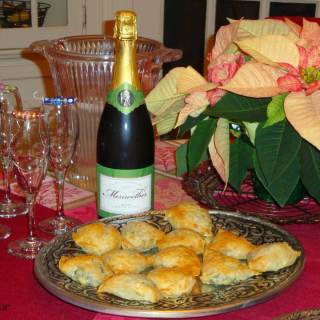 Domaine Meriwether Sparkling Wine and Make Ahead Spanakopita #winepw