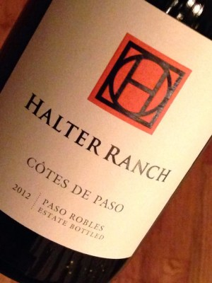 Bottle Shot of Halter Ranch Cotes de Paso 2012 Grenache Syrah Mourvedre from Paso Robles