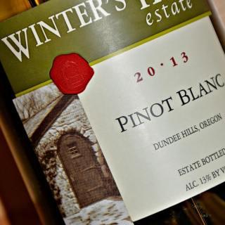Winter's Hill Vineyard Pinot Blanc + Warm Asparagus, Arugula, Bacon Salad #winepw