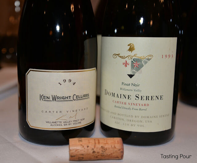 1994 Ken Wright Cellars Carter Vineyard Pinot Noir, 1993 Domaine Serene Carter Vineyard Pinot Noir