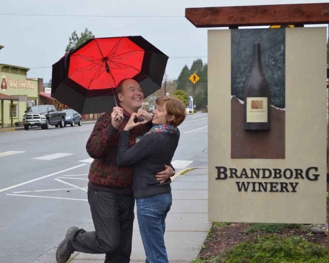 Terry and Sue Brandborg of Brandborg Winery