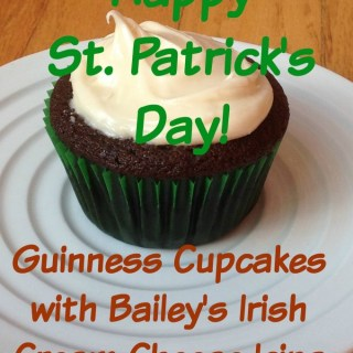 Guinness Cupcakes with Bailey's Irish Cream Cheese Frosting