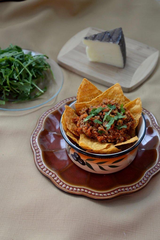 Lamb Sofrito Nachos Dinner