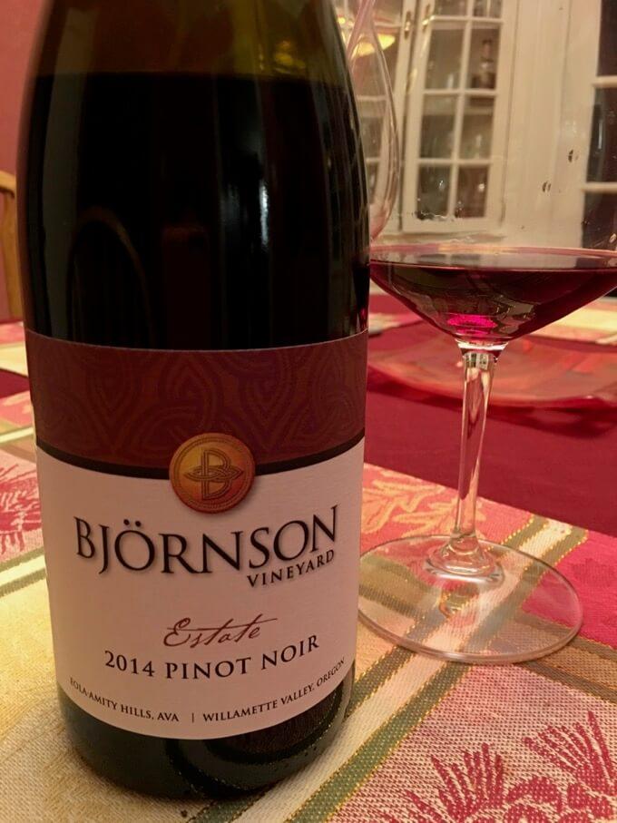 Holiday Wines Bjornson Vineyard 2014 Estate Pinot Noir