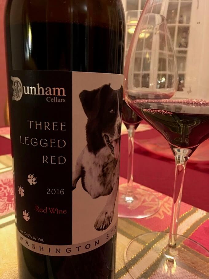 Holiday Wines 3 Legged Red Dunham Cellars