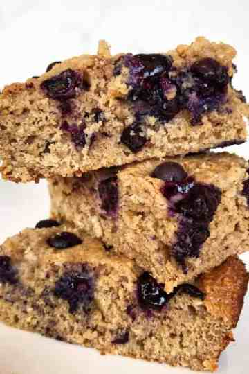 Protein Blueberry Oat Bars