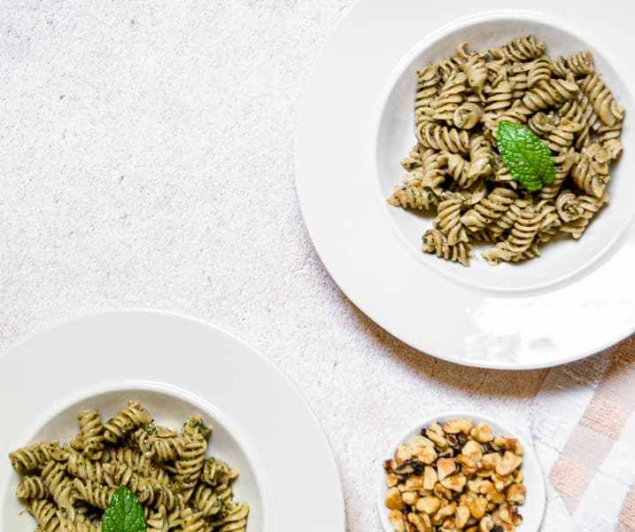 Mint, Walnut, and Basil Pesto