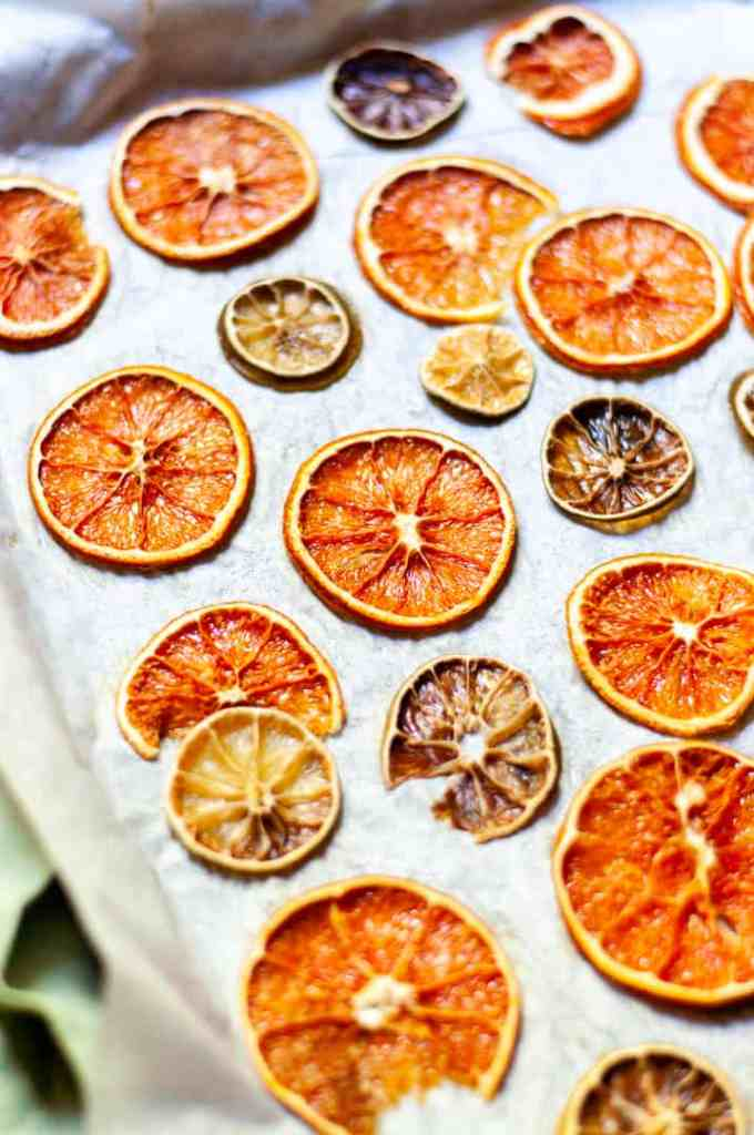 Dehydrated citrus at home