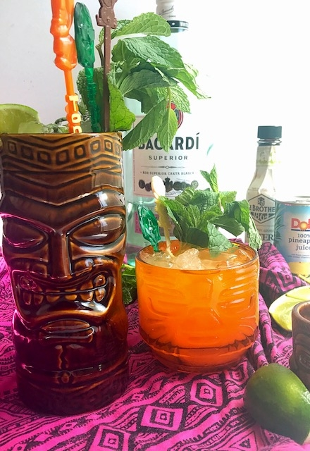 It's tiki time with this refreshing rum, pineapple and lime cooler