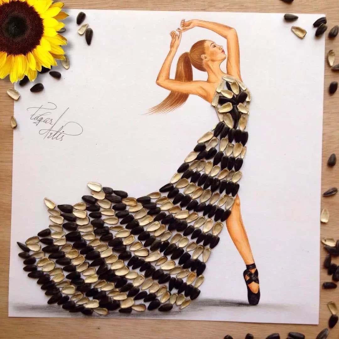 Fashion Designer Makes Art Of Food Dresses