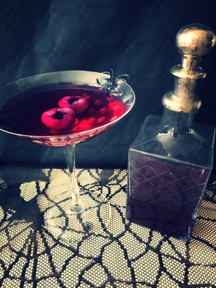 Halloween cocktail met lychee ogen