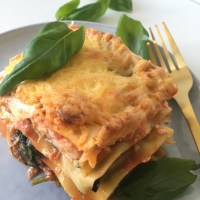 Lasagne met courgette spinazie en zalm