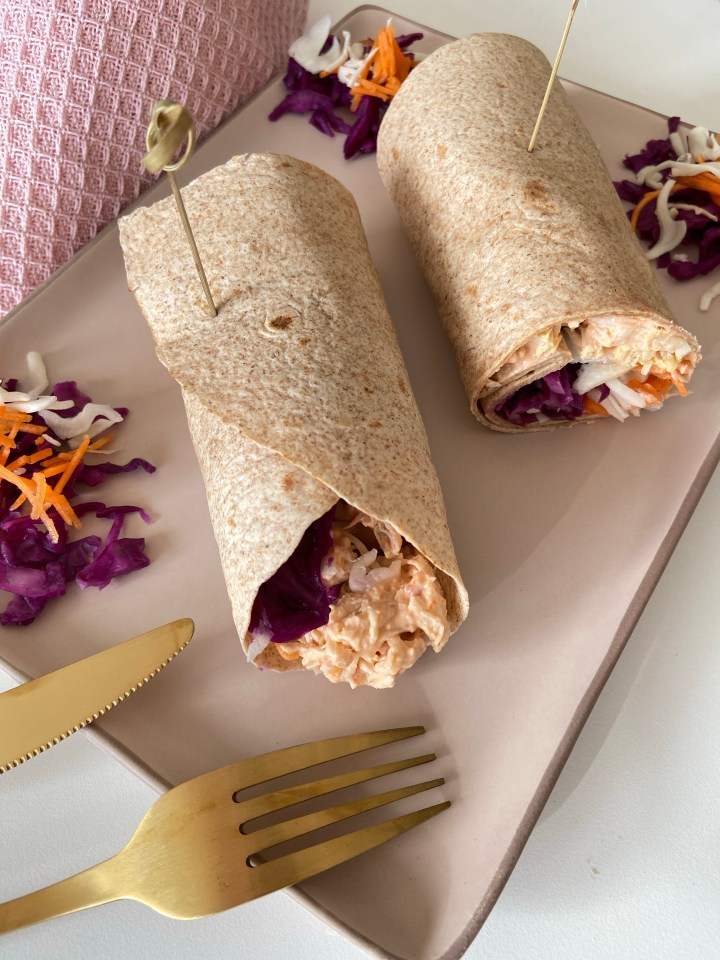 Wrap met pulled chicken