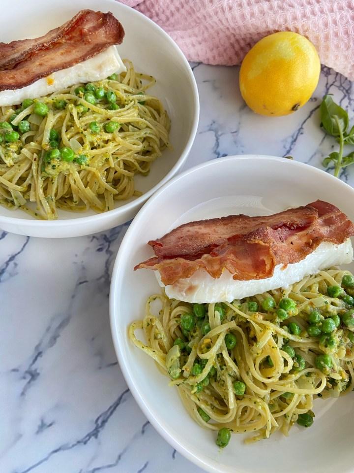 Pistache Pesto Spaghetti met Kabeljauw