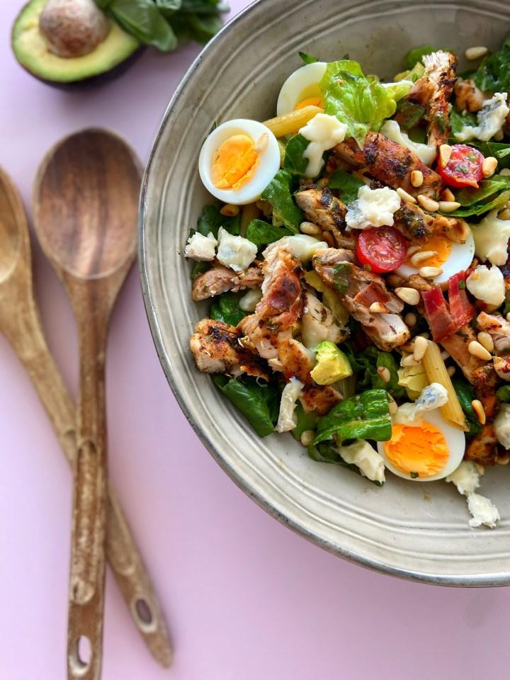 Italiaanse Salade met gegrilde Kippendij en Gorgonzola
