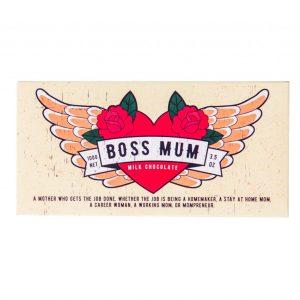 """A 100g Bloomsberry """"Boss Mum"""" chocolate bar"""