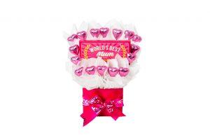 Bloomsberry Worlds Best Mum Hearts Chocolate Bouquet