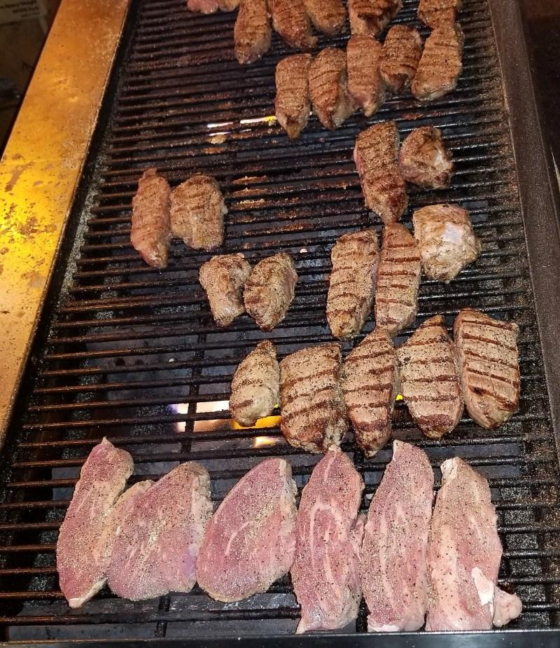 Blazin Steaks grillin'