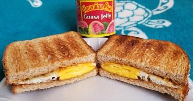 Peanut Butter, Guava Jelly & Fried Egg Sandwich