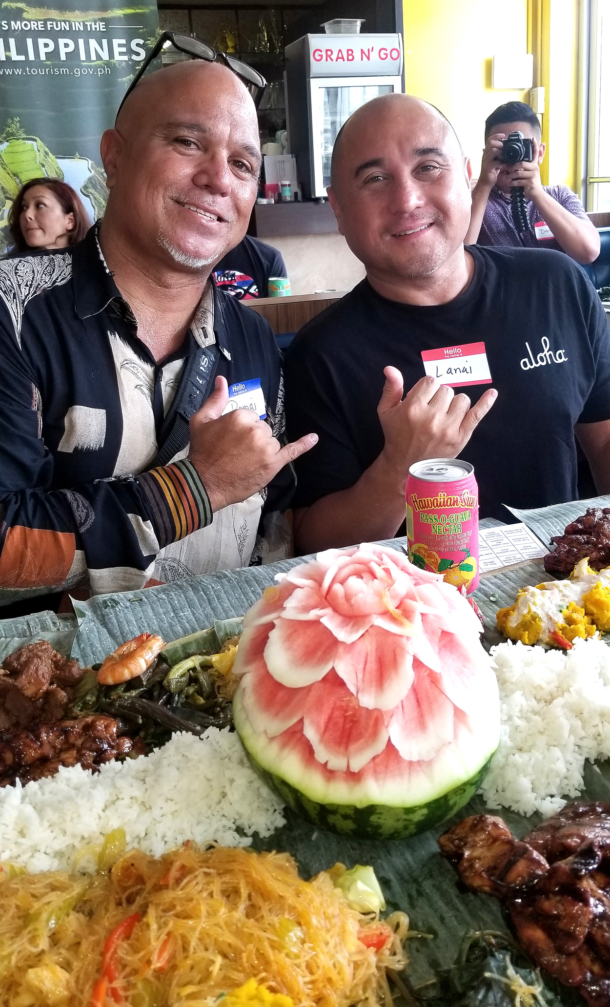 Pomai and Lanai at the Kamayan Lunch