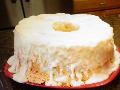 Angel Food Cake With Creamy Glaze Tasty Kitchen A Happy