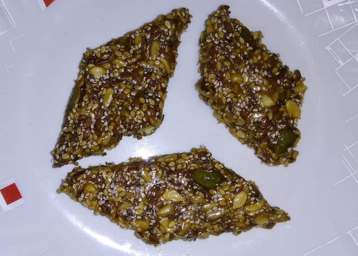 Multiseed bar(chiki) in jaggery