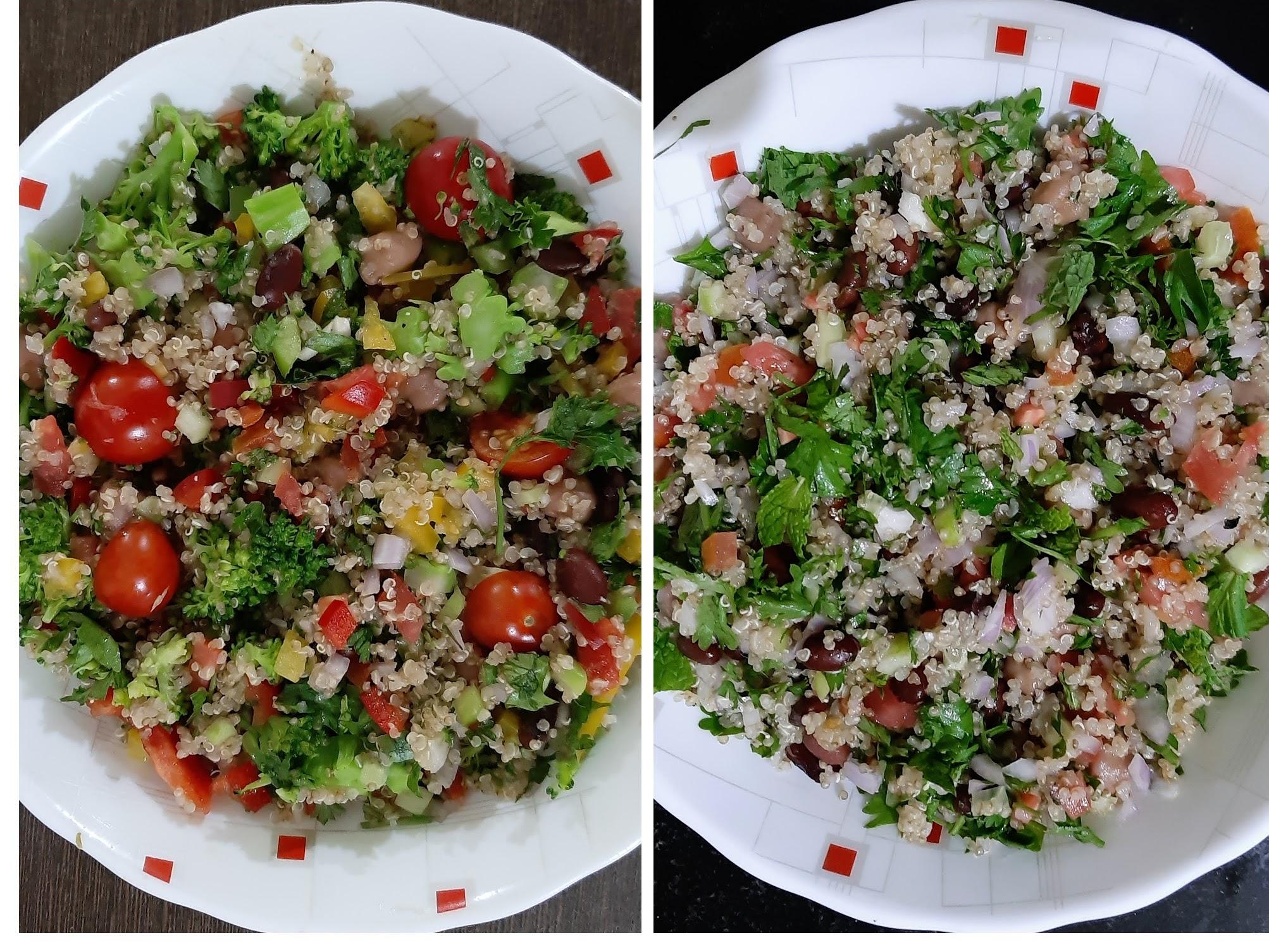 kidneybean chickpeas quinoa salad
