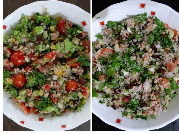 kidneybean chickpeas quinoa salad