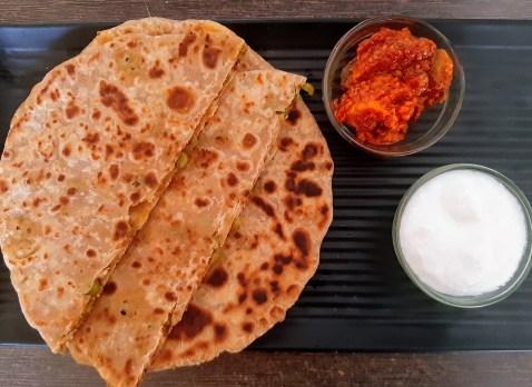 Mutter paneer paratha recipe