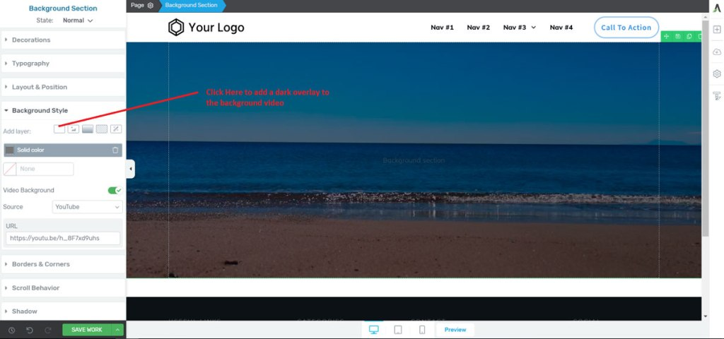 adding-overlay-to-background-video-in-Thrive-Architect