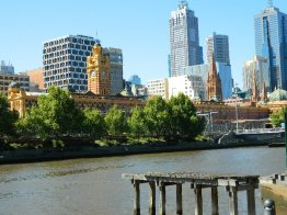 Melbourne - Flinders Street Station seen from the Yarra