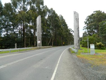 The entrance to the township.