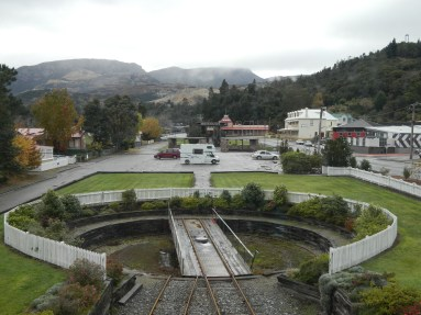 The turntable at the Queenstown terminus of the West Coast Wilderness Railway
