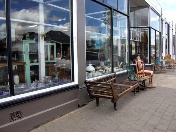 Antique shop window in Oatlands.