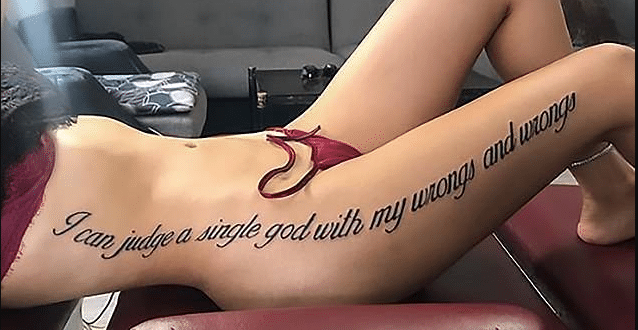 Reality TV Star Causes Uproar On Social Media With Her New Tattoo (Photos)