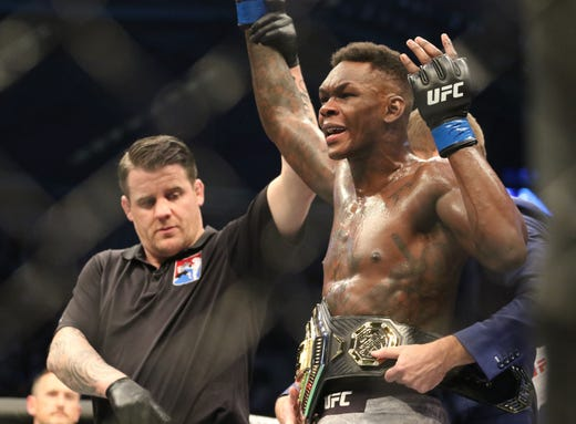 Israel Adesanya Defeats Robert Whittaker To Become The Undisputed Middleweight Champion