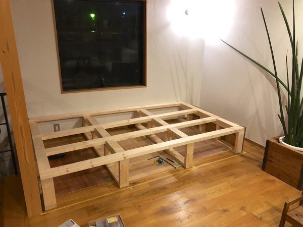 Tatami space made by DIY 1