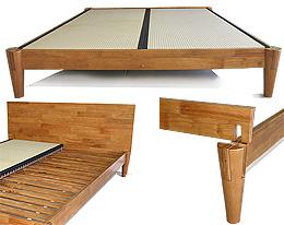 japanese solid wood bed frame