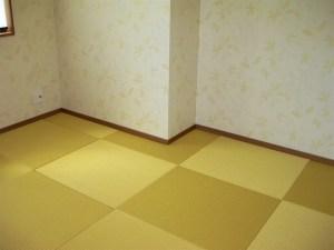 イエロー畳でより明るい部屋になりました