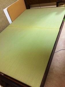 畳を2枚、ベッド用に注文いたしました