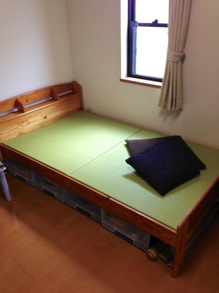 和紙表で製作したベッド用の畳