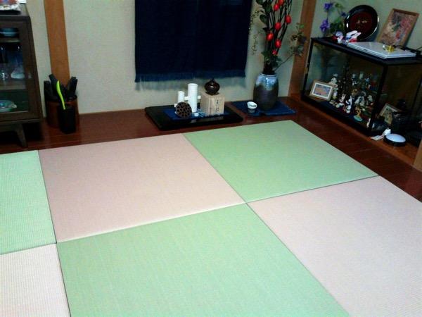 畳の設置後