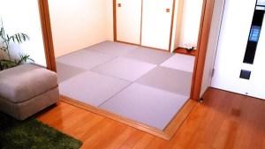 【グレー色の畳】10年使った本物の琉球畳からの入れ替え。畳の入替えもDIY
