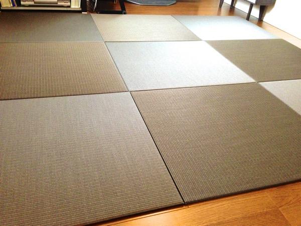 床暖房に対応した置き畳