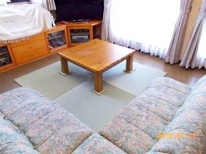 ホットカーペットから置き畳に模様替えして気分一新