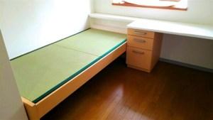 造作家具メーカーが製造した畳ベッドにオリジナルサイズの畳【置き畳】