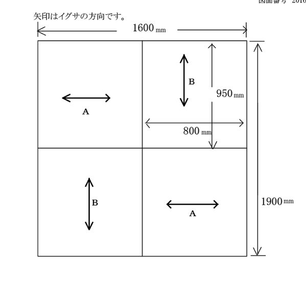 置き畳の配置図