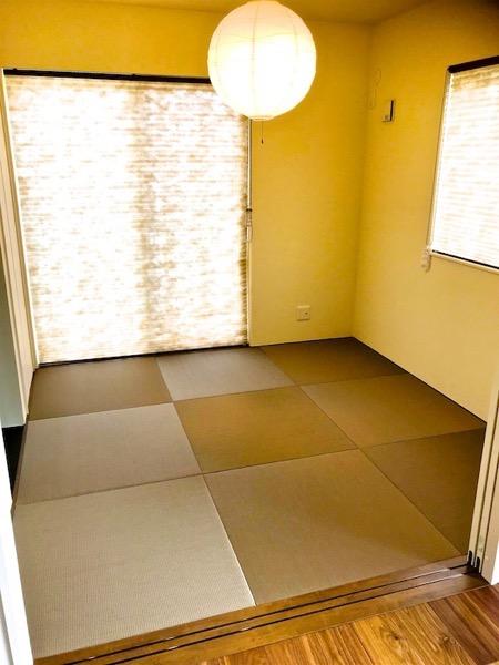 お客様自身で敷いた畳の部屋