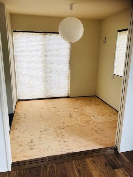 和室にする予定の部屋